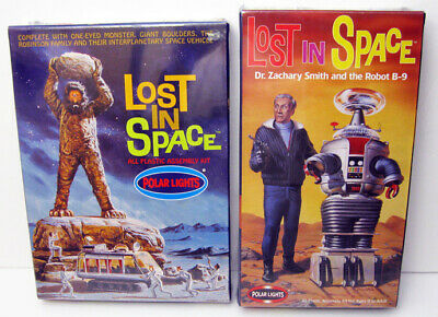 $ CDN58.12 • Buy 2 Polar Lights Lost In Space Models Robot B-9 Dr Smith Robinsons Monster Sealed