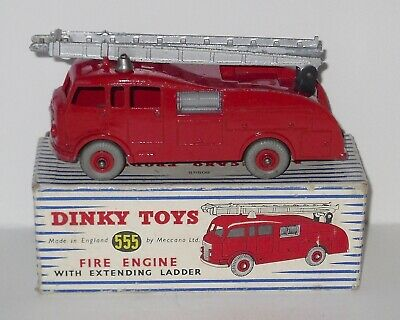 Vintage Dinky Toys 555 - Fire Engine With Extending Ladder - Boxed. (2). • 44.99£
