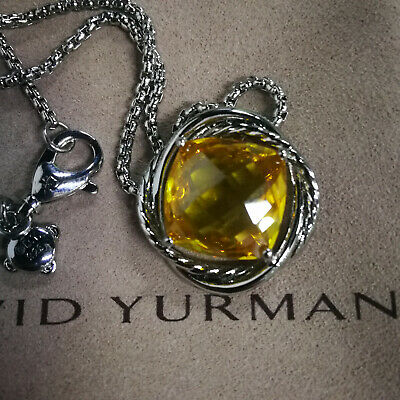 $99.50 • Buy David Yurman Citrine Chain Necklace And Pendant In 14mm Sterling Silver