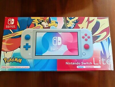 AU255 • Buy Nintendo Switch Lite Zacian And Zamazenta Pokemon Limited Edition Switch NEW