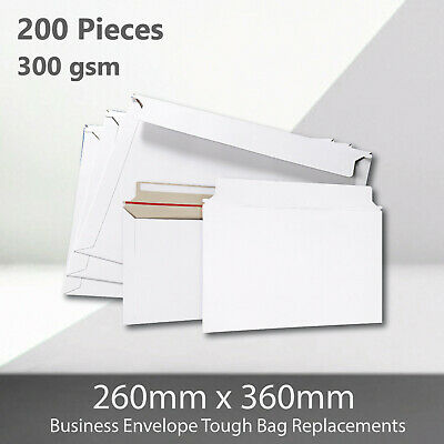 AU65.62 • Buy 200x Card Mailer B4 260 X 360mm 300gsm Business Envelope Tough Bag Replacements