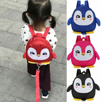 Cartoon Baby Toddler Kids Penguin Safety Harness Strap Bag Backpack With Reins • 7.99£