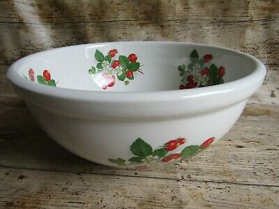 £20 • Buy Portmeirion Strawberries Large Serving / Mixing Bowl 28.5cm / 11 Inch - Second