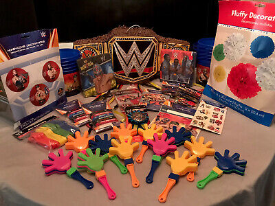 WWE Happy Birthday Party Supplies 🤎🖤❤️ OVER 40 Items • 60.78£