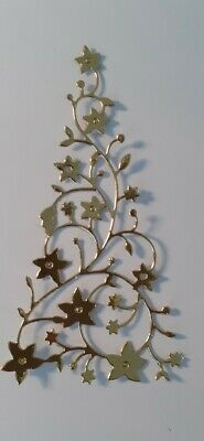 Pack Of 10 Gold Flowering Christmas Trees. Die Cuts For Cards/toppers • 1.95£