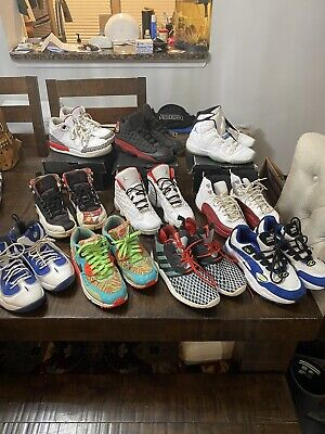 $ CDN203.58 • Buy LOT OF AIR JORDAN YOUTH SHOES -  - SIZE 7Y RETRO & More. (10 Pairs) Wow