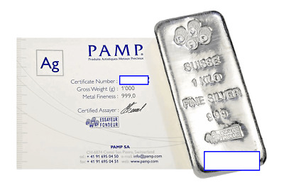 AU1500 • Buy PAMP 1kg Silver Bars