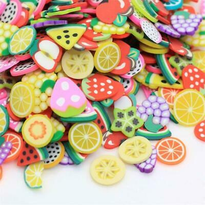 AU6.62 • Buy 1500Pcs 1cm Fruit Slices Decor Additives For Slime Filler Supplies Charms Clay A