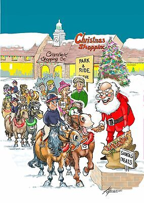 £2.50 • Buy Christmas Card - Park & Ride - Ponies Horse Santa Funny - Gift Envy Quality NEW