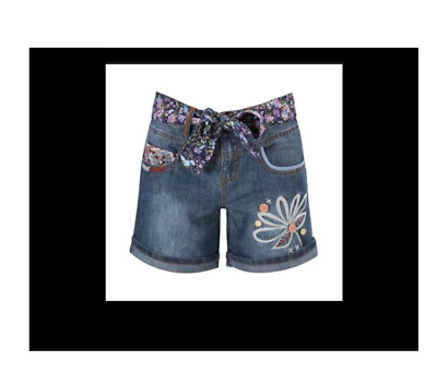 Joe Browns Funky Embroidered Denim Shorts Size 12 Bnwt • 29.50£