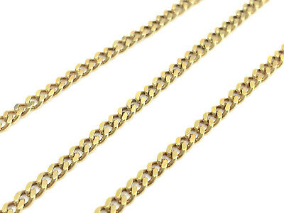 $479.95 • Buy 18  14K Yellow Gold Cuban Curb Link Chain Necklace, 2.4mm Wide, 9.6 Grams