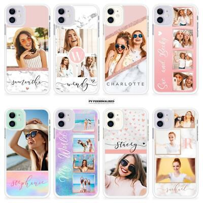 AU13.18 • Buy Personalised Phone Case Photo Collage Marble Plastic Cover For Iphone 7 8 X 11