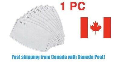 $ CDN1.99 • Buy 1 Replaceable Filter For Fabric Mask PM2.5 Activated Carbon Insert Ship Canada
