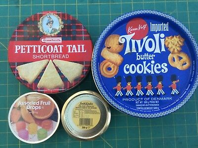 Empty  Biscuit And Sweet Tins Please See Photograph. • 3.97£
