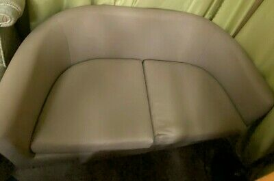 Secondhand Faux Leather Tub Sofa • 30£