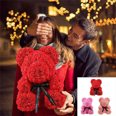 Rose Flower Foam Bear Romantic Stylish Gift For Love Valentine Birthday Wedding • 8.54£