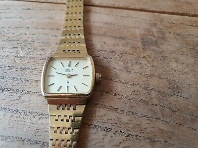 Citizen Gold Plated Ladies Watch,new Battery, Good Condition  • 15£
