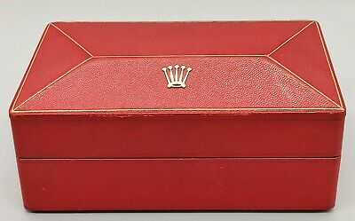 $ CDN467.22 • Buy ROLEX Box Red Big Triangle 247509 Solid 18k Crown 6305 6075 (Box Only) Read Info