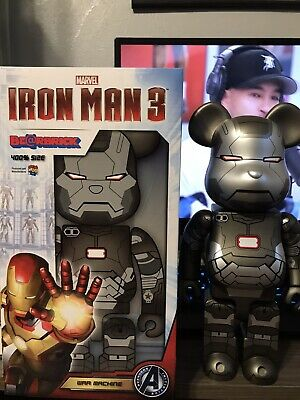 $699.98 • Buy Medicom Be@rbrick 2013 Marvel Avengers Iron Man 3 400% War Machine Bearbrick 1p