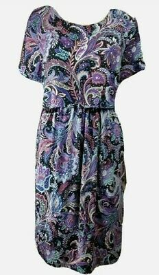 AU29.95 • Buy New! Asos Maternity 18 Dress Multi-color Purple Pailey Boho Festive Layered...