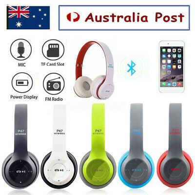 AU18.99 • Buy Noise Cancelling Wireless Headphones Bluetooth 4.2 Earphone Headset With Mic