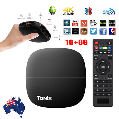AU37.89 • Buy 2020 4K TV BOX Android 9.0 Quad Core 64Bit Smart WIFI Media Player HDMI 1GB+8GB