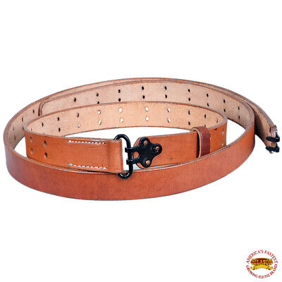 $ CDN33.24 • Buy WWII US M1 Garand Rifle M1907 Leather Carry Sling American Mahogany