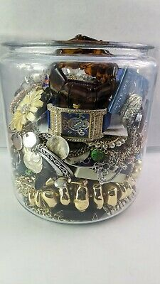 $ CDN66.75 • Buy 7 Lb Mystery Jewelry Lot - Vintage To Mod Wear Resell Craft All Wearable