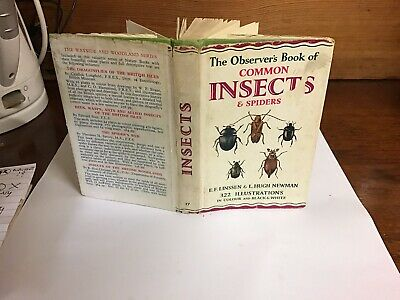 £9.99 • Buy Observers Book Of Common Insects & Spiders 1962: