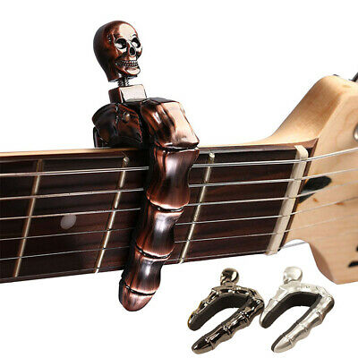 AU17.36 • Buy Ukulele Guitar Capo For Acoustic Electric Bass Portable Skull Fingers Zinc Alloy