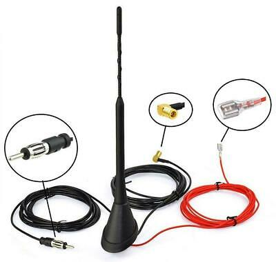 Universal Roof Mount Active Amplified FM W/ DAB Radio Car Aerial Antenna Mast /. • 15.99£