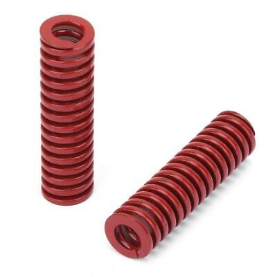 2pcs/set OD 10mm ID 5mm High Accuracy TM10*50mm Red Medium Load Mould Die Spring • 1.42£