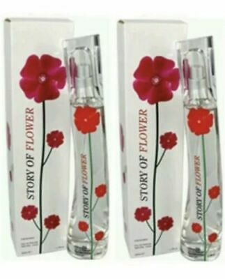 2 Brand New & Boxed Story Of Flower Ladies Perfumes Natural Spray 50ml For Women • 5.99£