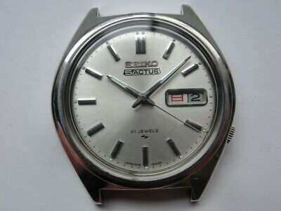 $ CDN247.83 • Buy Seiko 5 ACTUS 70' Automatic 21Jewels Watch 7019 Silver 898647 Day Date Case 38mm