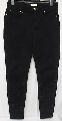 Ladies Ted Baker Black Jeans With Sequin Detail On Legs Size 28      (R6) • 13.10£