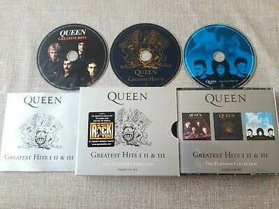 Queen Greatest Hits I Ii & Iii The Platinum Collection 3 Disc Cd Album Preowned • 9.99£