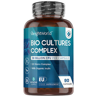 £14.99 • Buy Bio Cultures Complex 90 Capsules Bacteria Supplement For Gut Health & Digestion