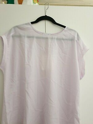 AU10 • Buy NEW Witchery Pastel Purple Sheer Crew Neck Top Size XL