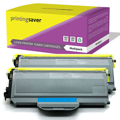 2 Toner Cartridge Fits Brother TN2120 DCP-7030 DCP-7040 DCP-7045N HL-2140 2150 • 17.99£