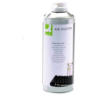 Q Connect Air Duster HFC Free Compressed Spray Gas Can 400ml Keyboard Printer PC • 6.47£