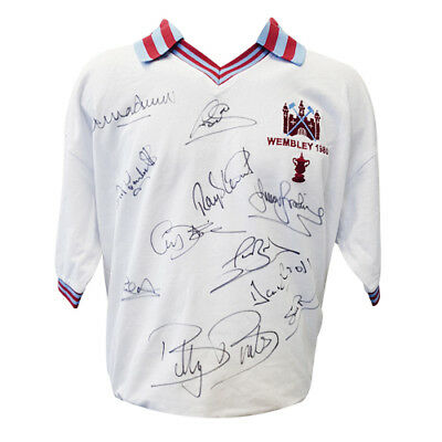 £225 • Buy West Ham 1980 Shirt Signed By 11