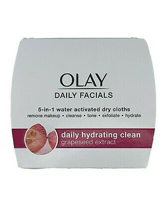 AU16.52 • Buy Olay Daily Facials 5-In-1 Water Activated Facial Cloths Grapeseed 33 Cloths New