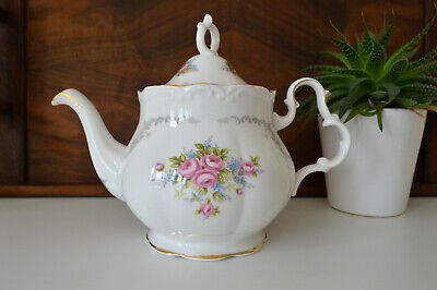 Rare Royal Albert' TRANQUILITY'  Teapot - Floral Rose Shabby Chic Vintage • 89.99£