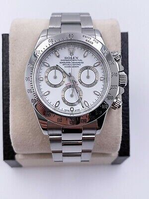 $ CDN24123.21 • Buy Rolex Daytona 116520 White Dial Stainless Steel 2001