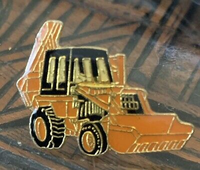 AU3.95 • Buy TRACTOR DIGGER FRONT END LOADER - Lapel Tie Pin Badge Hat Cap CONSTRUCTION