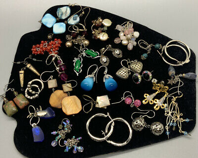 $ CDN56.79 • Buy Vintage Sterling Silver Earrings HUGE Lot Of 26 Pairs