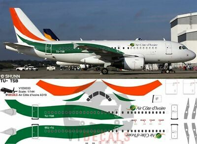 £11.12 • Buy V1 Decals Airbus A319 Air Côte D'Ivoire For 1/144 Revell Model Airplane Kit