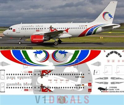 £12.29 • Buy V1 Decals Airbus A319 Gambia Bird For 1/144 Revell Model Airplane Kit V1D0289