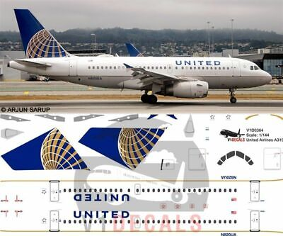 £11.12 • Buy V1 Decals Airbus A319 United Airlines For 1/144 Revell Model Airplane Kit