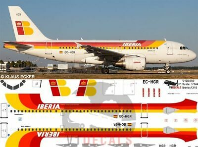 £11.12 • Buy V1 Decals Airbus A319 Iberia For 1/144 Revell Model Airplane Kit V1D0369